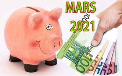 Mon actif net | Bilan mensuel de mars 2021